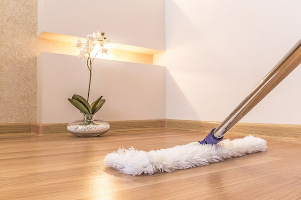 Cleaning household dust