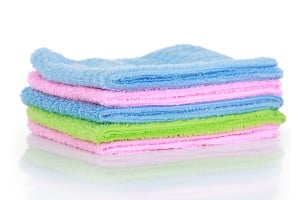 Colourful Microfibre Cleaning Towels