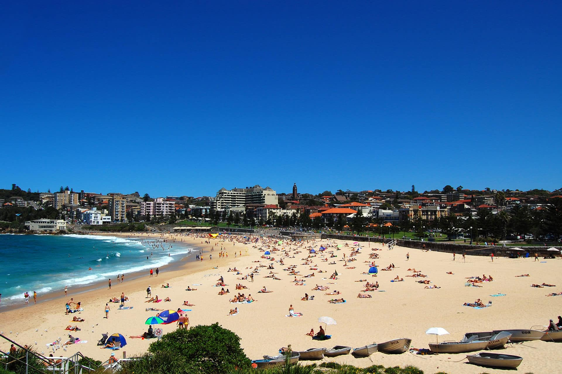 Coogee Beach, view from Dolphin Point at the northern end