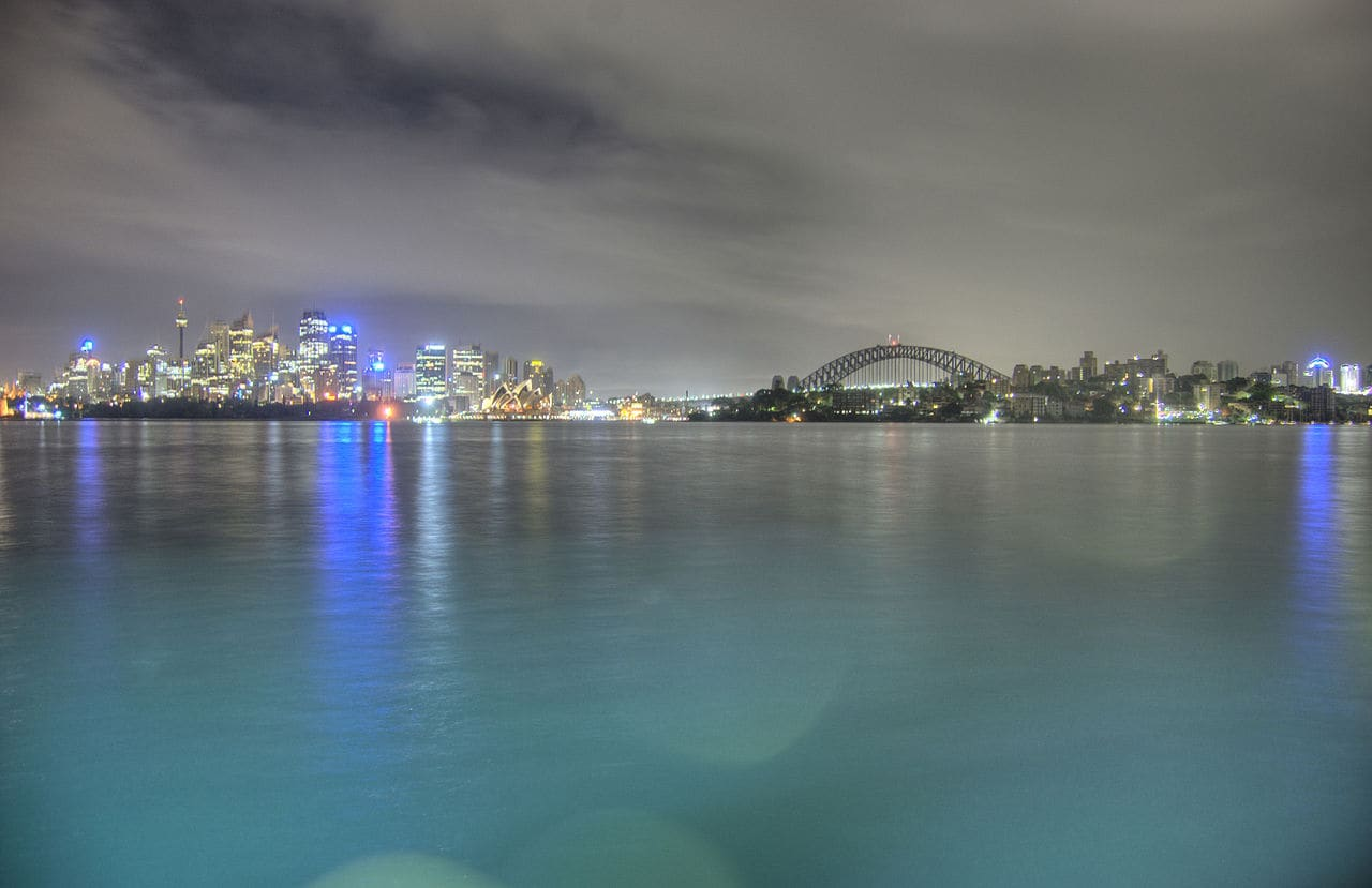 View of Central Sydney from Cremorne Point, NSW