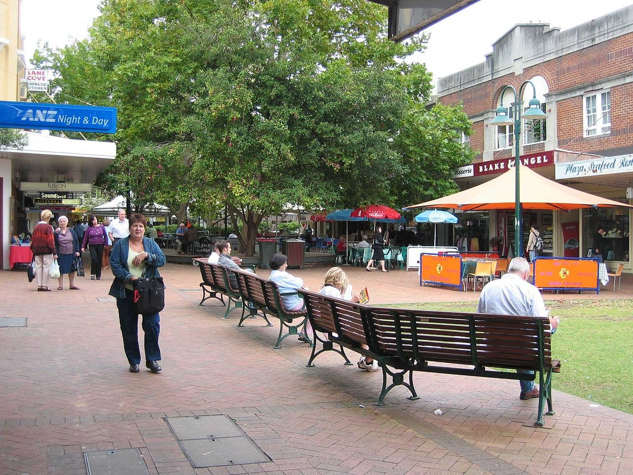 Lane Cove, New South Wales, Australia - Pedestrian mall, Lane Cove Plaza.
