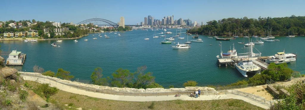 View of Sydney from Waverton, NSW