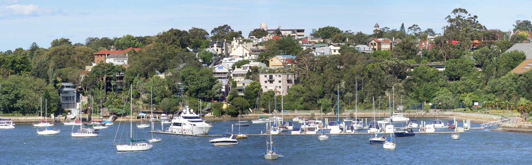 Balmain, New South Wales from Iron Cove Bridge